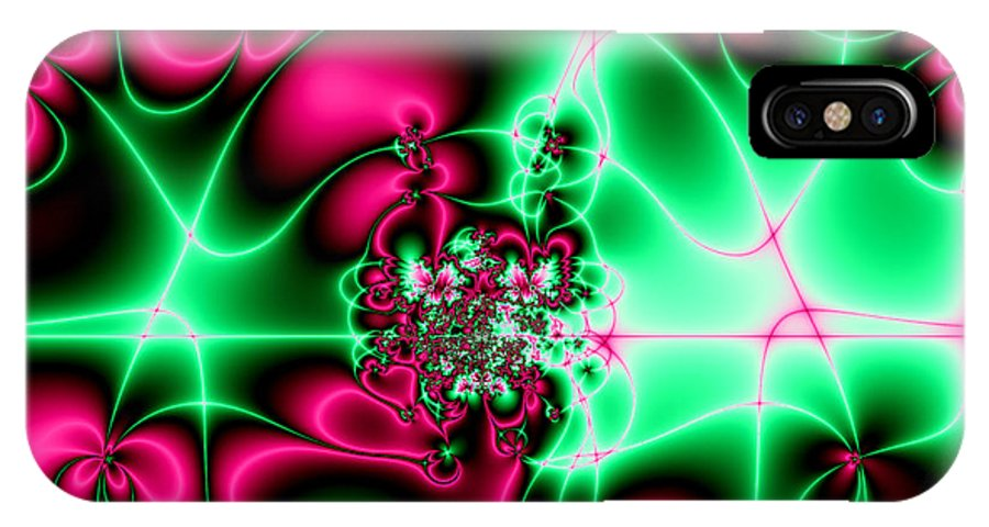 Fractals IPhone X Case featuring the photograph Fractal 4 by Rose Santuci-Sofranko