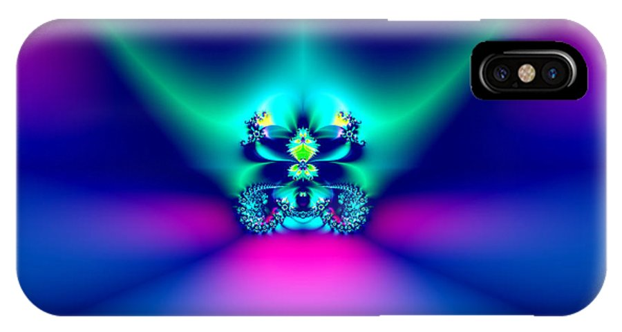 Crowns IPhone X Case featuring the photograph Fractal 9 Crown by Rose Santuci-Sofranko
