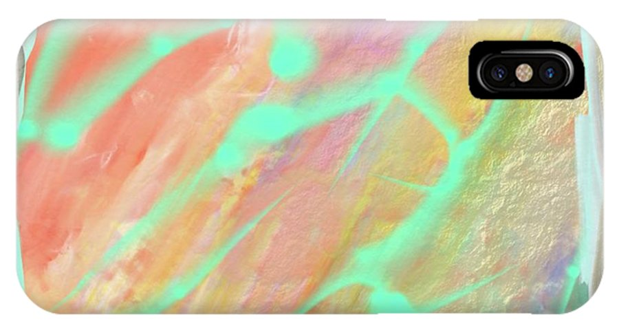 Digital Art IPhone X Case featuring the painting Fragment Of A Sacred Scroll by Naomi Jacobs