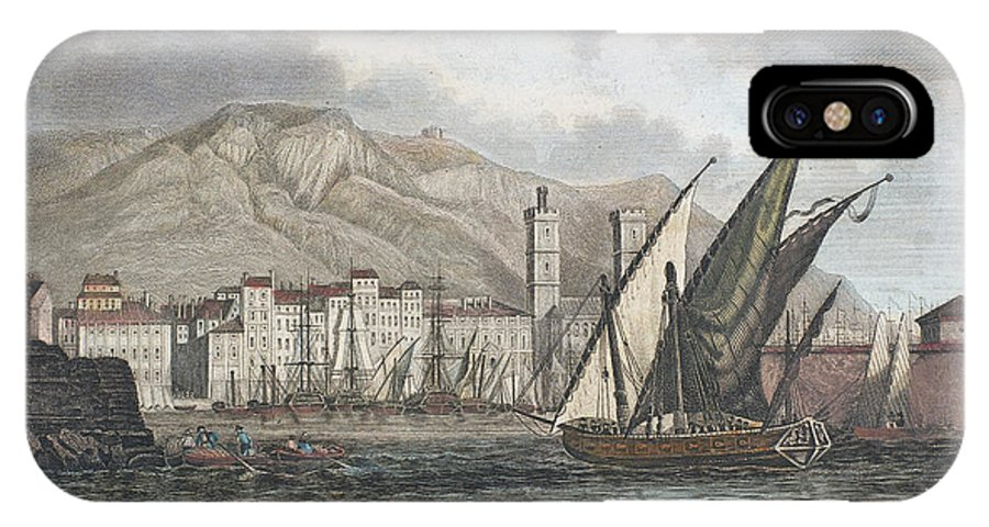 1850 IPhone X Case featuring the photograph France: Toulon, C1850 by Granger