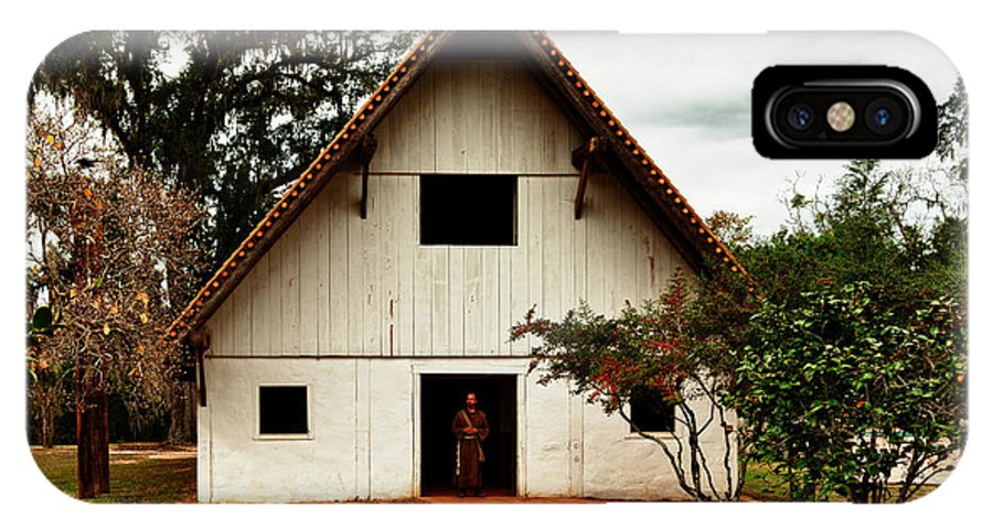 Spanish Mission San Luis Tallahassee Florida IPhone X Case featuring the photograph Franciscan Friar At Mission San Luis by Frank Feliciano