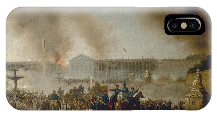 1870 IPhone X / XS Case featuring the photograph Franco-prussian War, 1870 by Granger