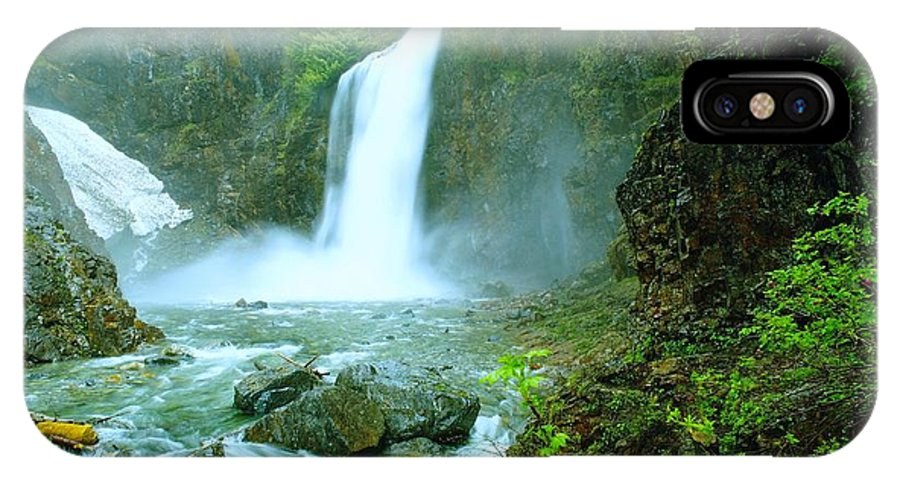 Water. Waterfalls. Streams IPhone X Case featuring the photograph Franklin Falls  by Jeff Swan