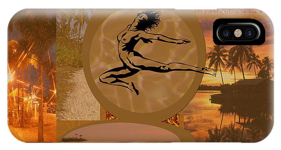 Gold IPhone X Case featuring the digital art Free To Be Me by Peggy Starks