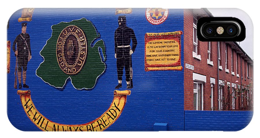 Newtownards Road IPhone X / XS Case featuring the photograph Freedom Corner Mural Belfast Northern Ireland by Thomas R Fletcher
