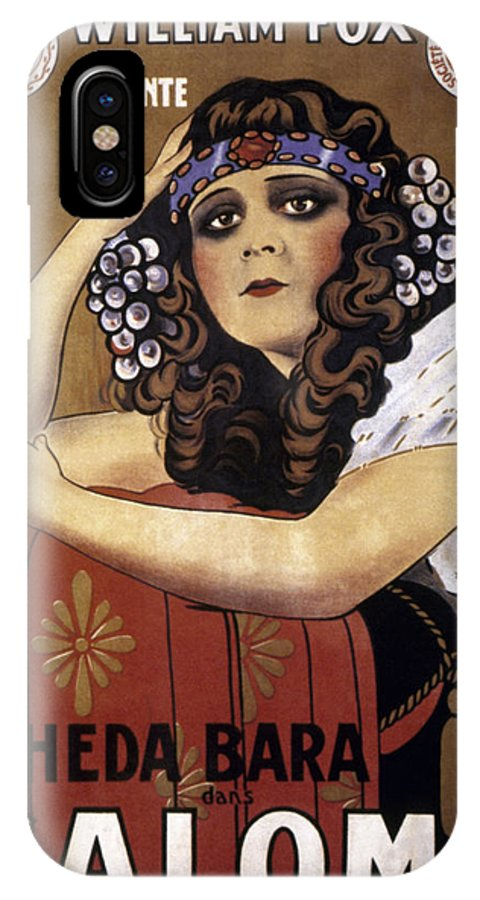 -nec02- IPhone X Case featuring the photograph French Poster: Salome, 1918 by Granger