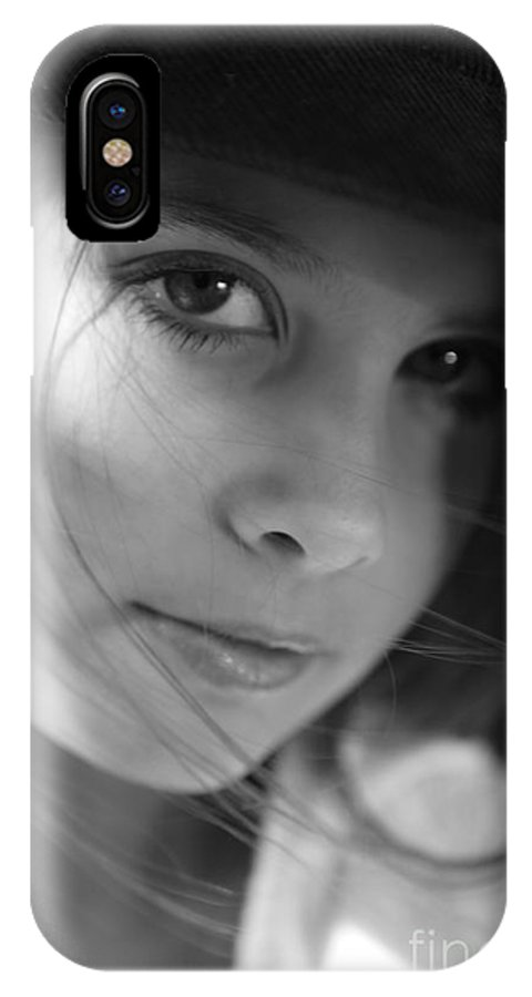 Black And White IPhone X Case featuring the photograph Fresh Face by Nadine Rippelmeyer