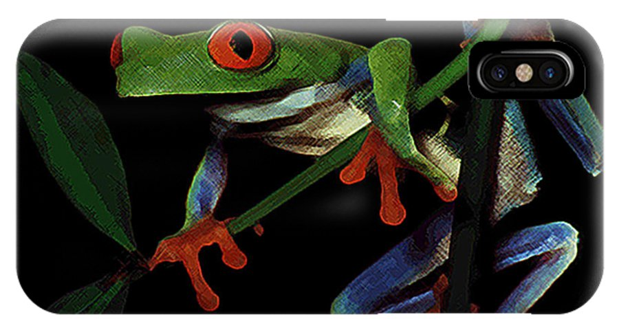 Frog IPhone X Case featuring the photograph Frog by Stephanie Haertling