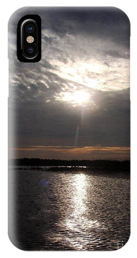 Glow IPhone X Case featuring the photograph From Above by Jack Norton