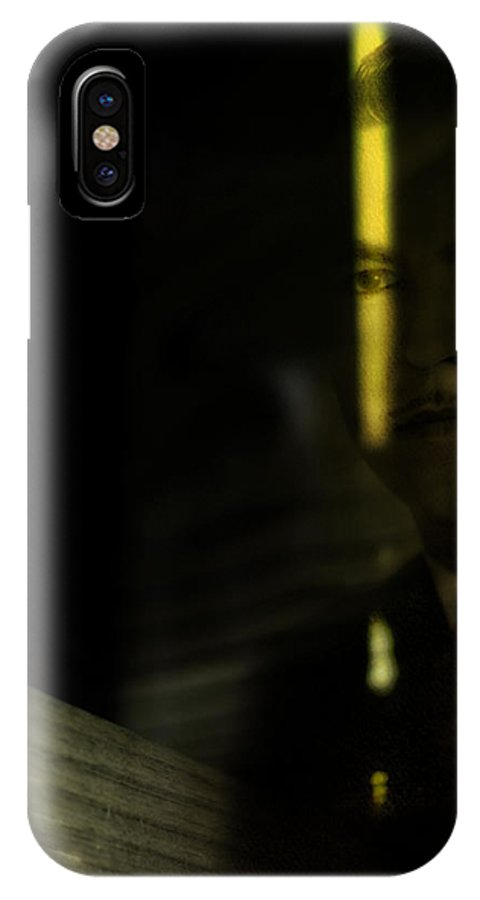 Man IPhone X Case featuring the photograph From Darkness Come by Rebecca Sherman