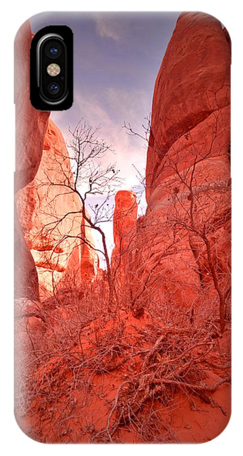Sand Dune Arch IPhone X Case featuring the photograph From The Inside by Tara Turner