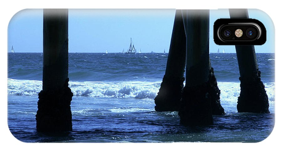 Pier IPhone X Case featuring the photograph From Under The Pier by Lorraine Devon Wilke