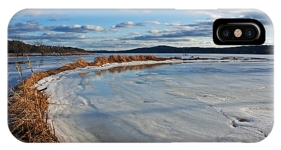 Ice IPhone X Case featuring the photograph Frozen Shoreline by Jeff Galbraith