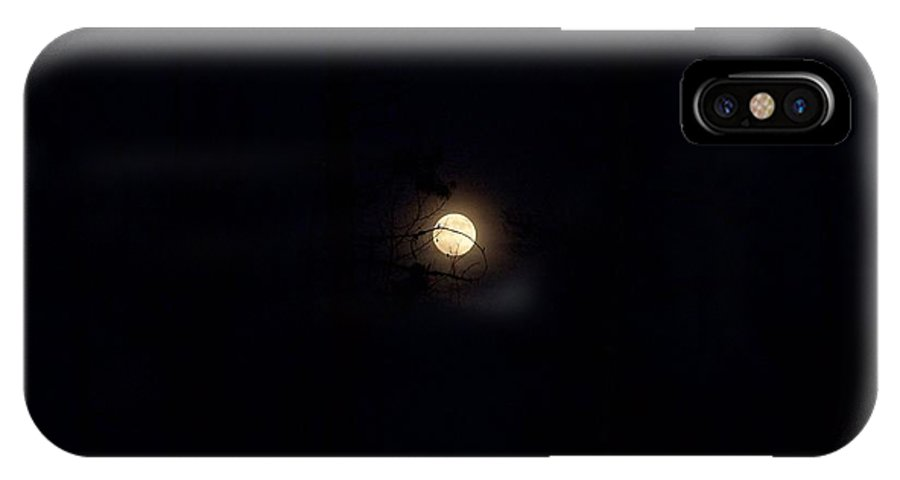 Full Moon IPhone X Case featuring the photograph Full Moon by Susan Saver