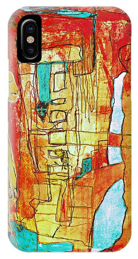 Fusion IPhone X Case featuring the mixed media Fusion Nr.42 by Franziska Kolbe