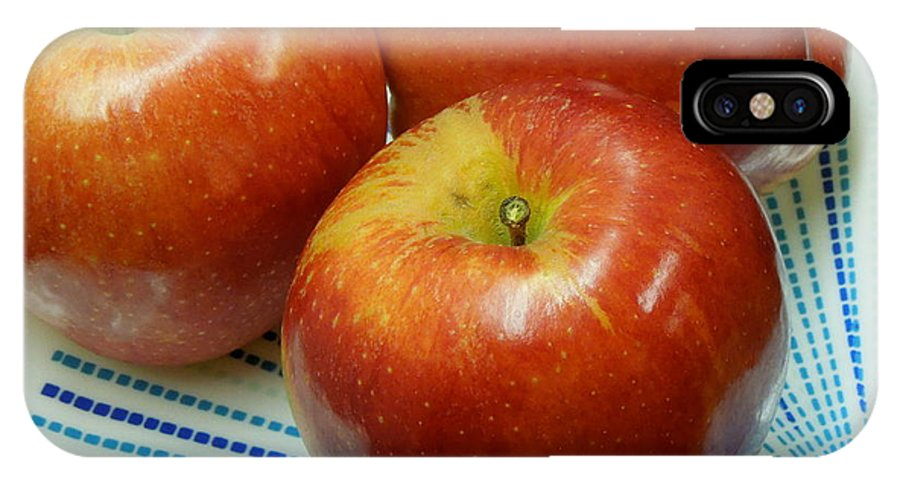 Gala IPhone X Case featuring the photograph Gala Apples by Renee Trenholm