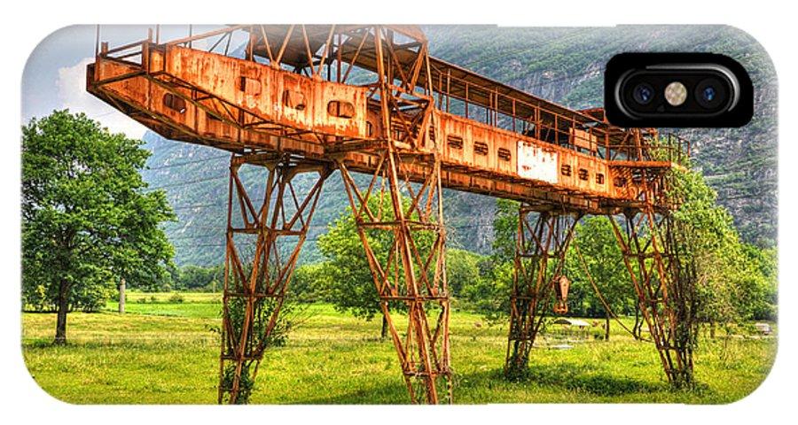 Gantry Crane IPhone X Case featuring the photograph Gantry Crane by Mats Silvan