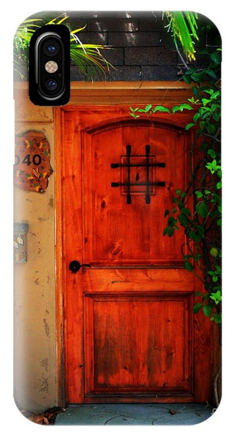 Door IPhone X Case featuring the photograph Garden Doorway by Perry Webster