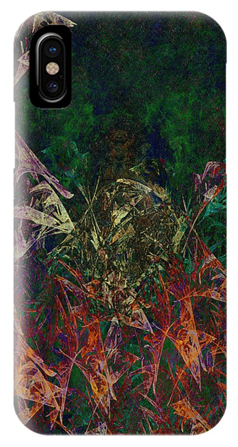 Garden IPhone X Case featuring the painting Garden Of Color by Christopher Gaston