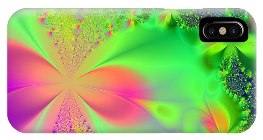 Peaceful Canvas Prints IPhone X Case featuring the digital art Garden Of Peace And Happiness by Ester Rogers