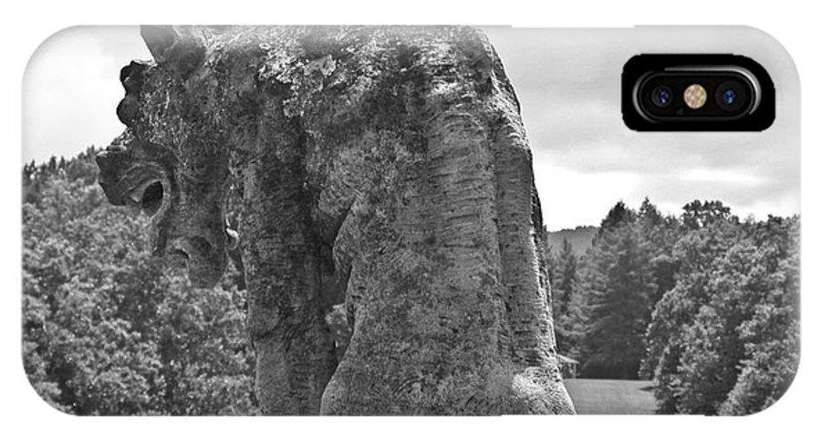 Gargoyle IPhone X Case featuring the photograph Gargoyle by Tim Mulina