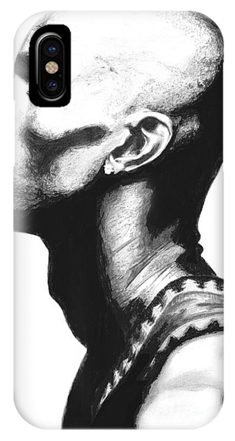 Kevin Garnet IPhone X Case featuring the drawing Garnet by Tamir Barkan