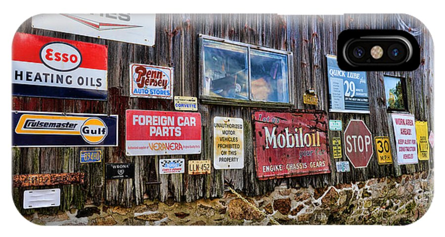 Gas Station Signs IPhone X Case featuring the photograph Gas Station Signs by Paul Ward