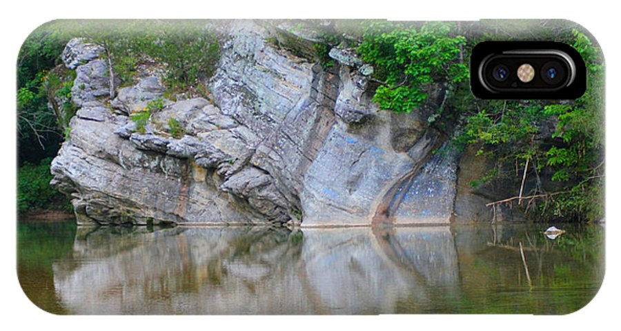 Arkansas IPhone X Case featuring the photograph Gator Rock by Karen Wagner