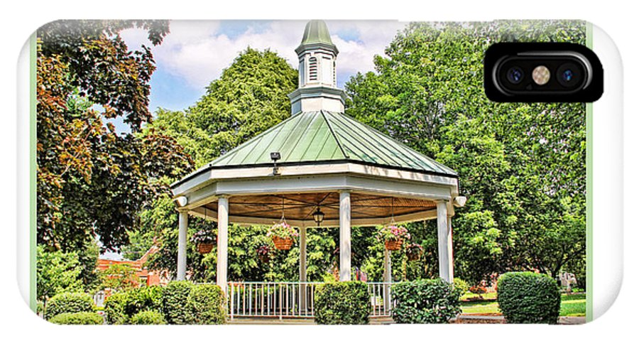 Gazebo IPhone X Case featuring the photograph Gazebo In Willoughby Ohio by Jack Schultz