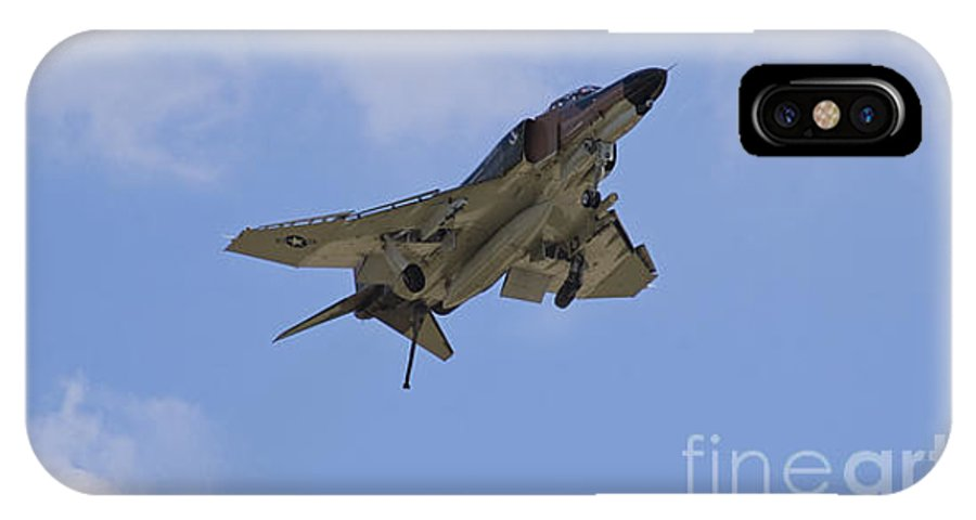 F-4 IPhone X / XS Case featuring the photograph Gear Down Hook Down by Tim Mulina