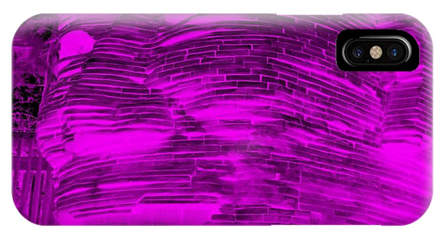 Architecture IPhone X Case featuring the photograph Gentle Giant In Negative Purple by Rob Hans