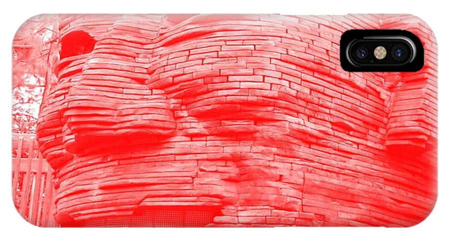 Architecture IPhone X / XS Case featuring the photograph Gentle Giant In Negative Red by Rob Hans