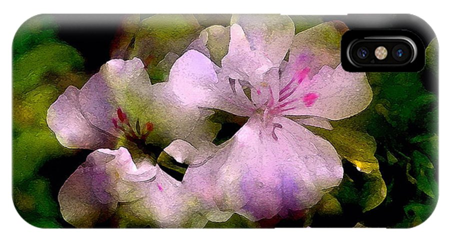 Floral IPhone X / XS Case featuring the photograph Geranium 8 by Pamela Cooper