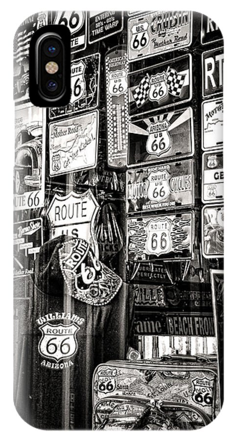 Souvenirs IPhone X Case featuring the photograph Get Your Kicks On Route 66 II by Diane Wood