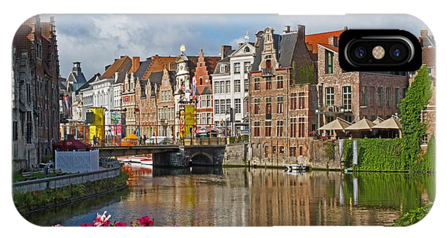 Europe IPhone X Case featuring the photograph Ghent Belgium by David Freuthal