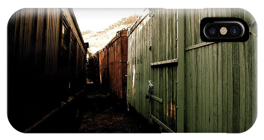Ghost IPhone X Case featuring the photograph Ghost Train Yard by Travis Burns