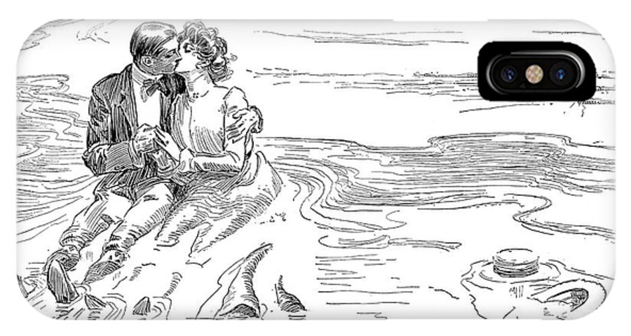 1901 IPhone X Case featuring the photograph Turning Tide, 1901 by Charles Dana Gibson