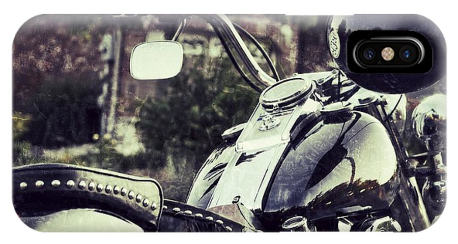 Motorcycle IPhone X Case featuring the photograph Giddy Up by Traci Cottingham