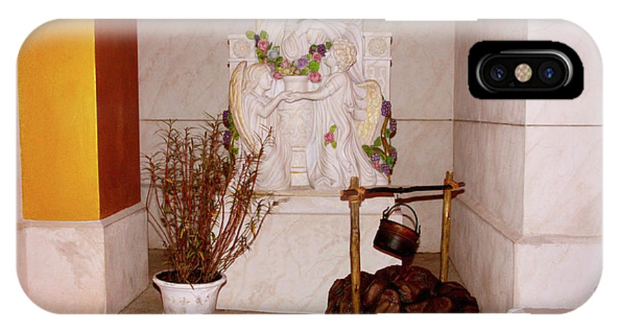 Christian IPhone X Case featuring the photograph Give Her Flowers by Terry Wallace