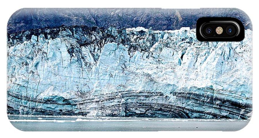 Glacier IPhone X Case featuring the photograph Glacier Face by Eric Tressler