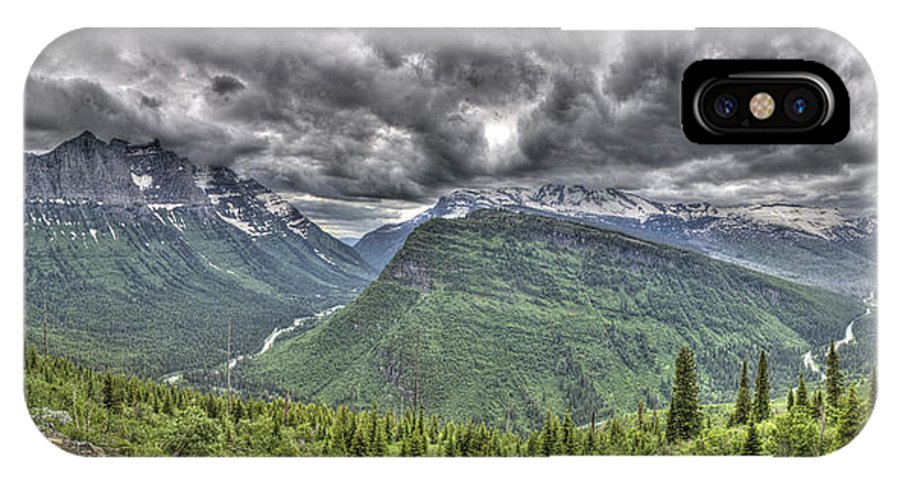 Glacier Park IPhone X Case featuring the photograph Glacier by Sarah Wiggins