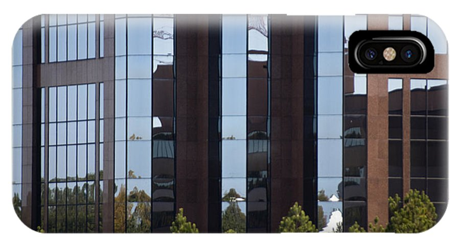 Buildings IPhone X Case featuring the photograph Glaring Windows by Kelly Rader