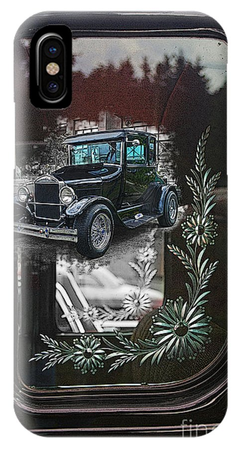 Cars IPhone X Case featuring the photograph Glass Etching Classic by Randy Harris