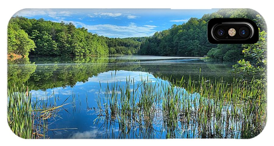 Long Branch Lake IPhone X Case featuring the photograph Glassy Waters by Adam Jewell