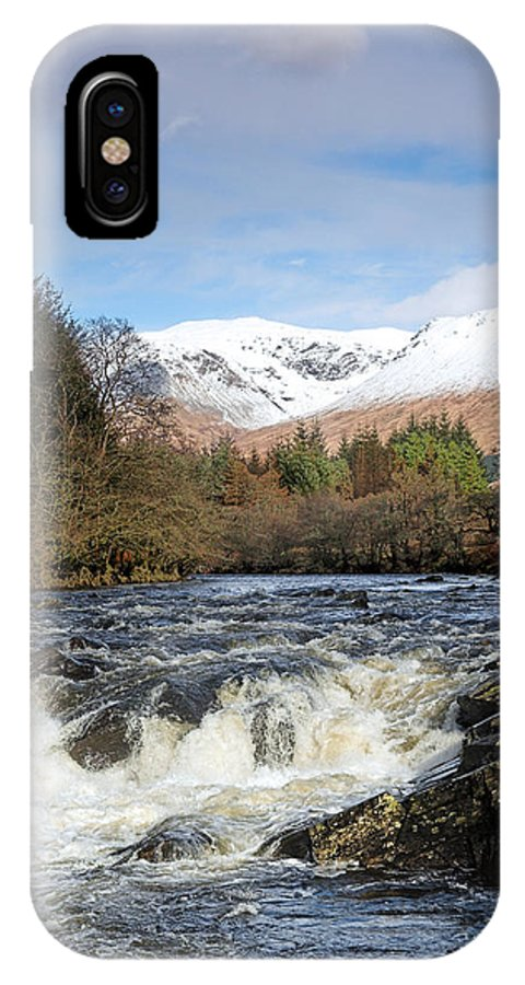 Scotland IPhone X Case featuring the digital art Glen Orchy by Pat Speirs