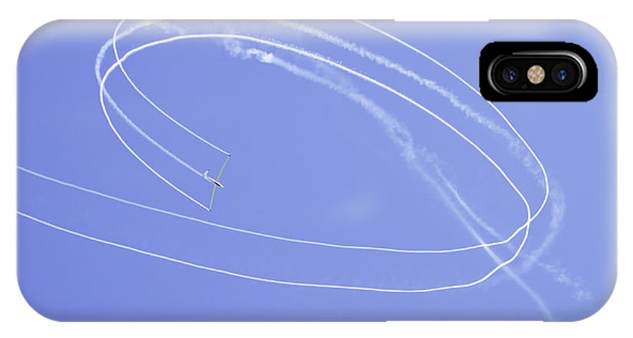 Plane IPhone X Case featuring the photograph Glider Aerobatics At Airshow Canvas Photo Poster Print by Keith Webber Jr