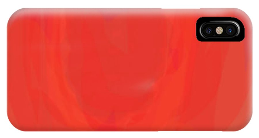 Red IPhone X Case featuring the painting Glow by Naomi Jacobs