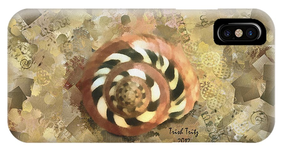 Shell IPhone X Case featuring the photograph God's Creative Beauty by Trish Tritz
