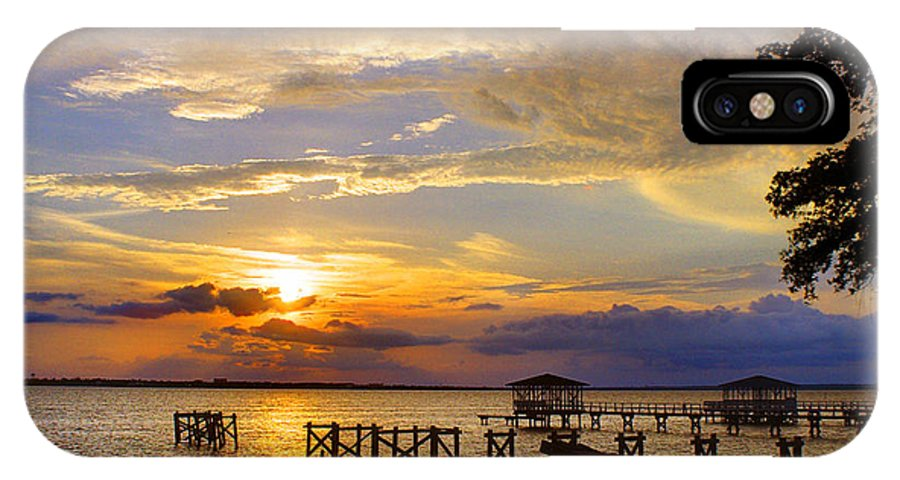 Sunset IPhone X Case featuring the photograph God's Show by Brian Wright