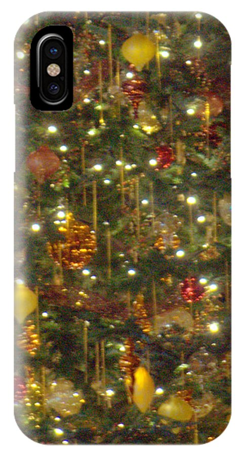 Christmas Tree IPhone X Case featuring the photograph Golden Christmas Tree by Mark Holden